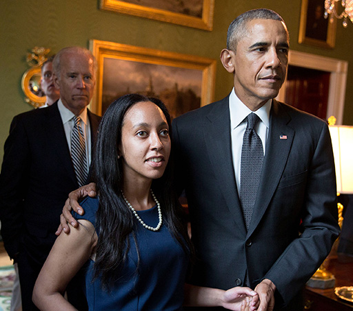 Haben Girma with President Obama
